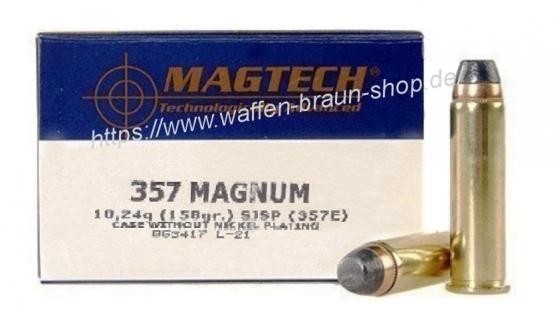 Magtech.357MAGSJSPFL 158GR A50#357E