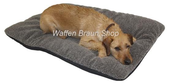 Hunde Thermobett braun 70x100 cm  Oberseite Faserpelz Superplus - nimmt nur 1% seines Eigengewichts