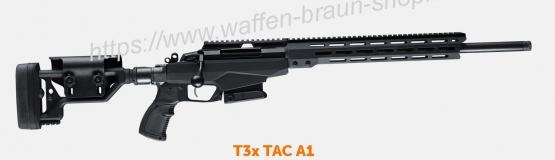 TIKKA - Repetierbüchsen Tikka T3x TAC A1 Kal. 6,5CRMR 60cm Druckpunktabz, ohne Visierung