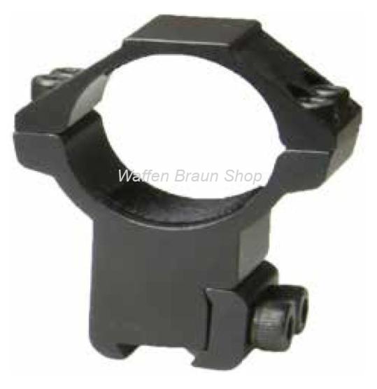 Bauer Ringmontage für 11mm Prismenschiene, Schwarz matt, 30mm, Hoch