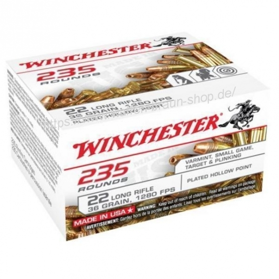Winchester .22LR,SUPER-X,36gr,LHP COPPER PLATED,235 Stück/ Pack