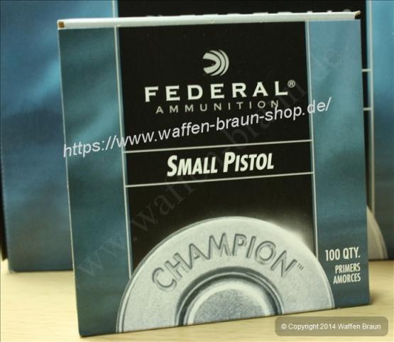 Federal Zündhütchen, Federal 100, Small Pistol  100 STK