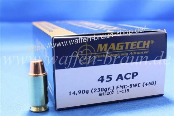 Magtech.45AUTO FMJSWC 230GR A50#45B