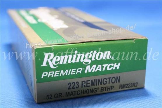 Remington .223 BTHP 52 grain 20 Stk #RM223R2