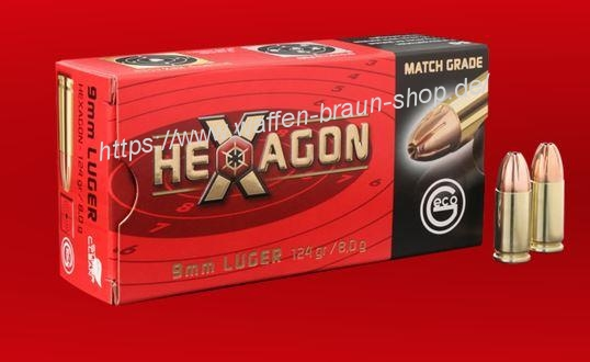 GECO 9mm Luger HEXAGON VM 8,0g 124gr