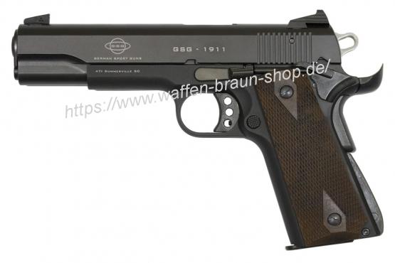 Pistole GSG -1911 schwarz mit Kunstoffgriffschalen inkl. 10 Schuss Magazin Kal. 22lr