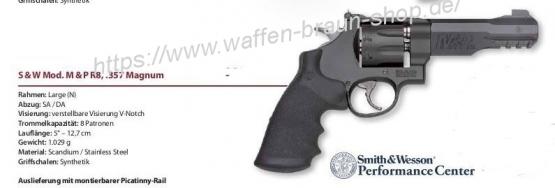 "S&W Rev. Mod M&P R8, 5"", cal. .357 Mag., 8-Schuss"