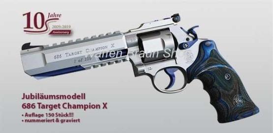 "Smith & Wesson WAIMEX Jubiläumsmodell 686 Target Champion X .357 Magnum 6 """