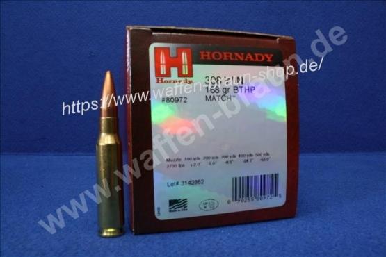 Hornady .308 Win Match BTHP 168 grain 50 Stück #80972