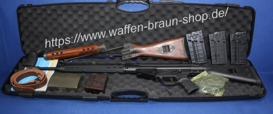 MKE T41 . Kal. 308 WIn mit zusätzlichem Holzschaft