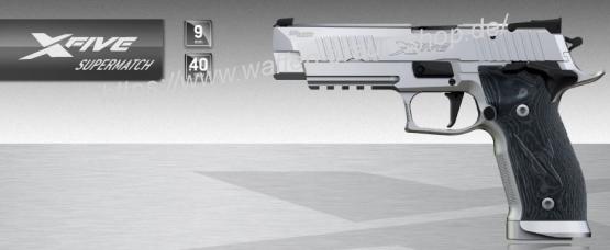 "Sig Sauer P226 X-five ""SUPERMATCH"" 9mm Para SAO Adj. Silver mit Reservemagazin"