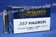 Magtech.357MAG LSWC 158GRS A50#357C