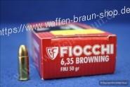 FIOCCHI - Pistolenpatronen 6,35 MM / .25 AUTO VM / 3,24 G / 50 GRS