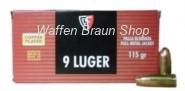 FIOCCHI - Pistolenpatronen 9 MM LUGER VM / 7,45 G / 115 GRS