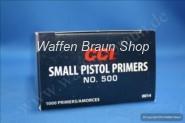 CCI 500 Zündhütchen Small Pistol 100 Stück