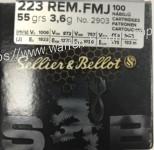 Sellier & Bellot .223 rem FMJ 55 grain 100 Stück (NEU)
