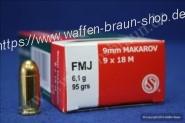S+B 9mm Mak. FMJ 95grs. 50St
