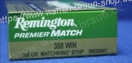 Remington .308 Win BTHP 168 grain 20STK #RM308W7