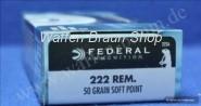 Federal  .222 REM 50GR POWER-SHOK SOFT POINT #222A
