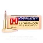 Hornady 6,5 Creedmoor ELD Match 120 grain #81491 20 Stück