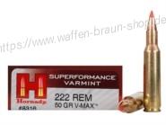 Hornady .222 Rem V-Max 50 grain 20 Stück #8316