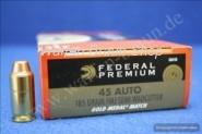 Federal .45 ACP Gold Match FMJ-SWC 185grain 50 STK #GM45B
