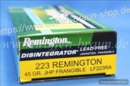 Remington .223 REM JHP Frangible 45 grain 20 STk #LF223RA