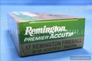 Remington .17 Fireball Accutip-V 20 grain 20 Stk.#PRA17FB