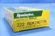 Remington .222 Pointed Soft PT, 50 grain 20 Stk.#R222R1