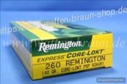 Remington .260 Remington Core- Lokt PSP 140 grain, 20 Stk.#R260R1