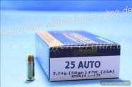 Magtech .25AUTO FMJ 50GRS A50  #25A