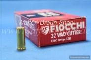 FIOCCHI - Pistolenpatronen .32 S&W LONG LWC/ 6,5 G /100 GRS
