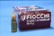 FIOCCHI - Historische Kurzwaffenpatronen 7,65 PARA / .30 LUGER VM / 6,03 G / 93 GRS 50 Stück