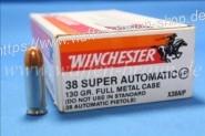 Winchester .38 Super Auto +P FMJ 130grain 50STK #X38AIP