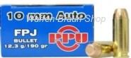 PPU 10mm Auto FPJ 12,3g/190 grain 50 Stück
