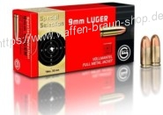 GECO 9 mm Luger Vollmantel-Rundkopf 8,0 g Special Selection 50 Stück