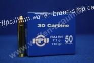 Privi Partizan .30 Carbine FMJ RN 110gr 50 STK
